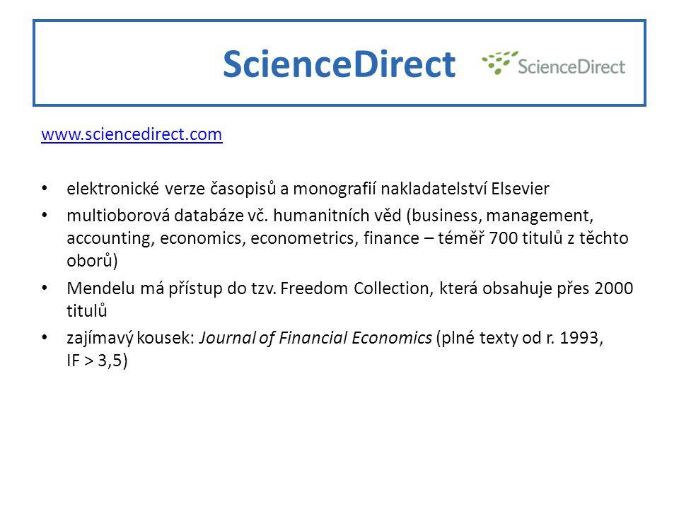 ScienceDirect www.sciencedirect.com