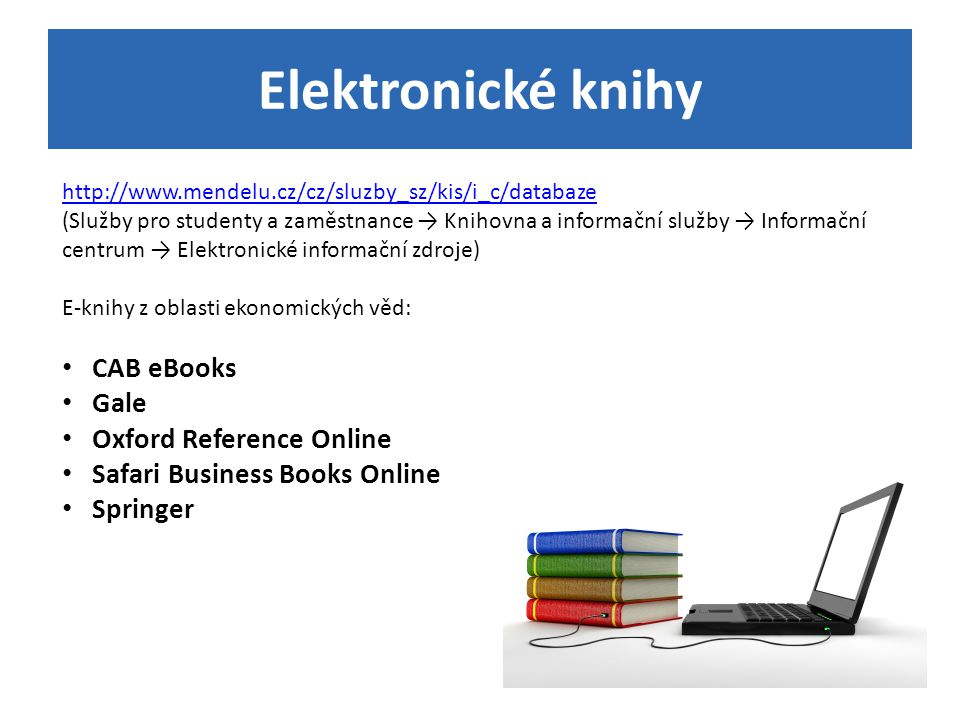 Elektronické knihy CAB eBooks Gale Oxford Reference Online