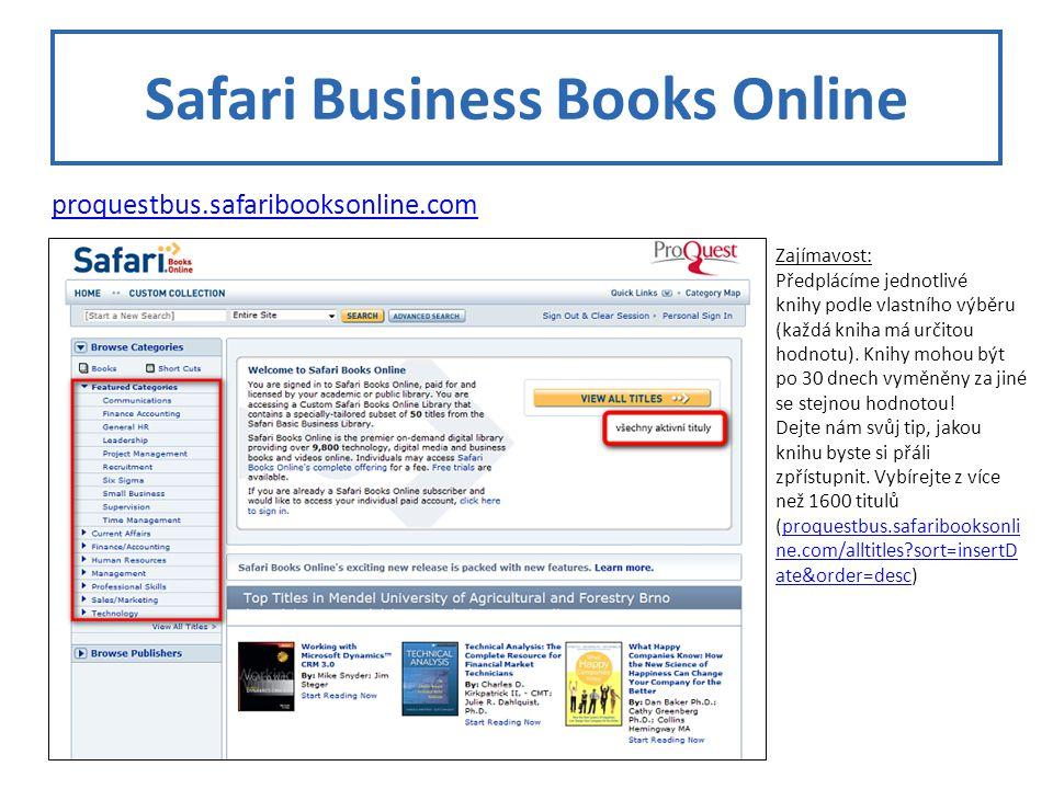 Safari Business Books Online