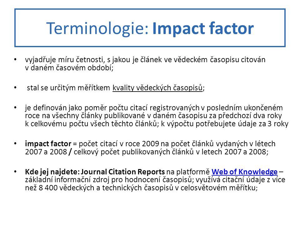 Terminologie: Impact factor