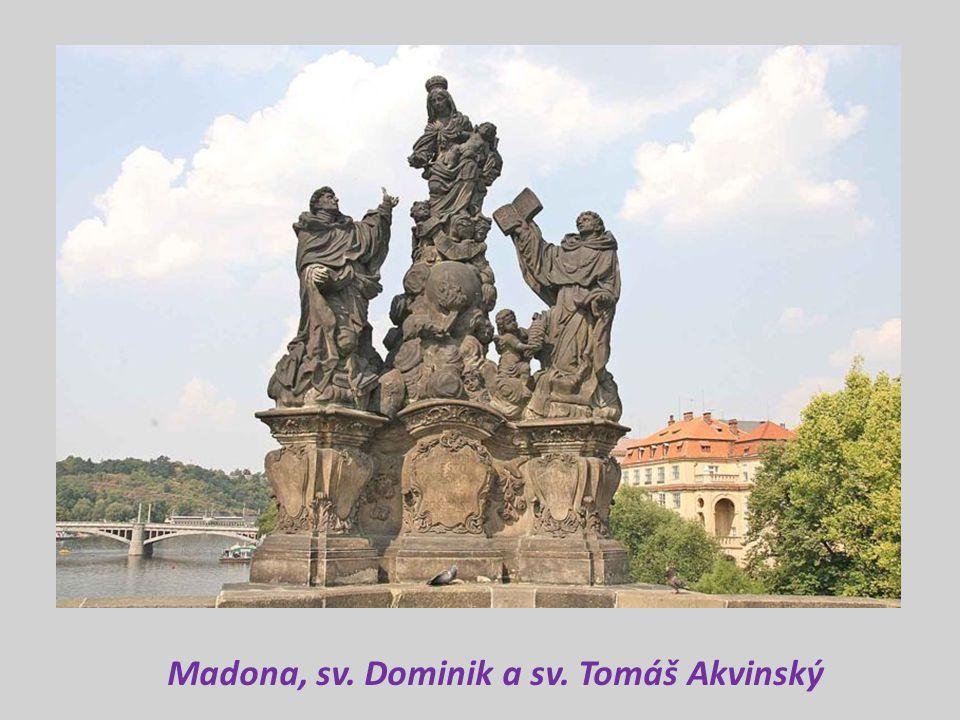 Madona, sv. Dominik a sv. Tomáš Akvinský