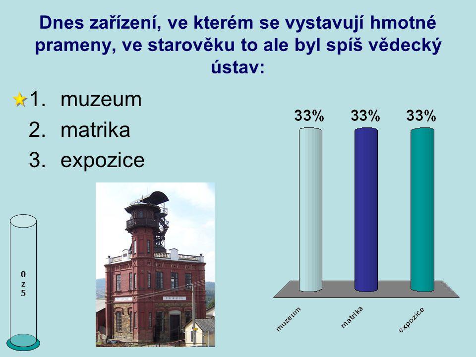 muzeum matrika expozice