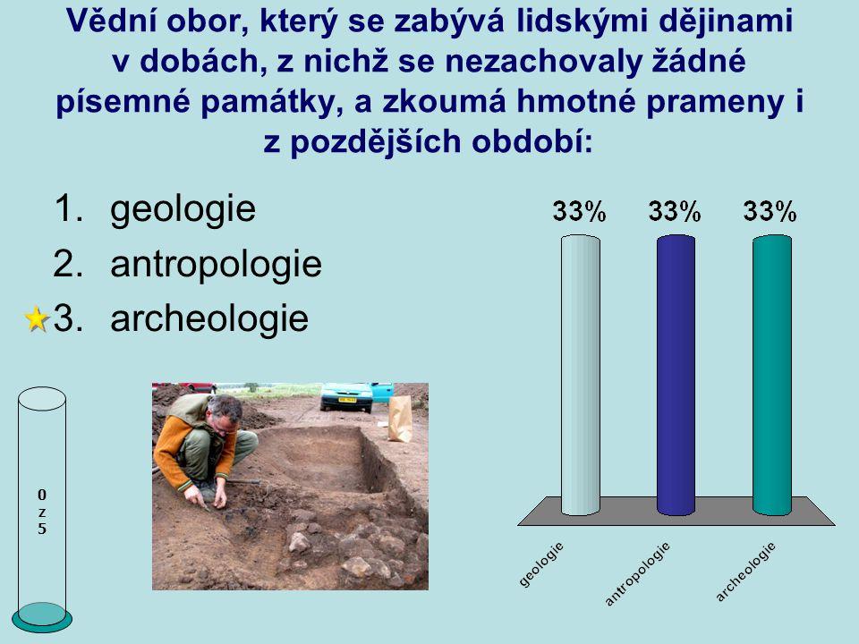 geologie antropologie archeologie