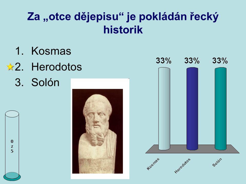 """Za """"otce dějepisu je pokládán řecký historik"""