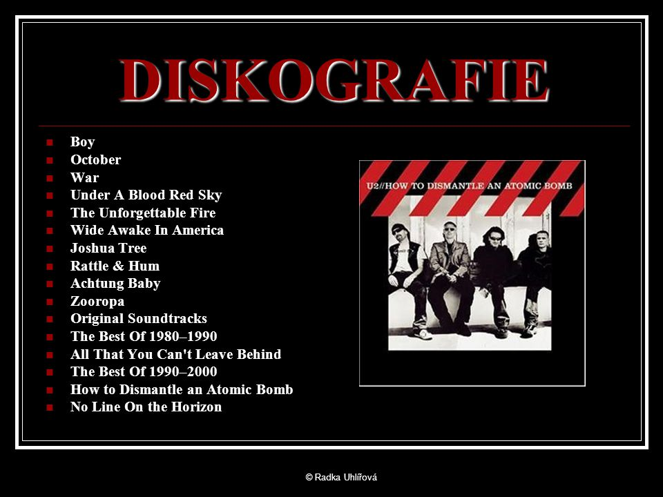 DISKOGRAFIE Boy October War Under A Blood Red Sky