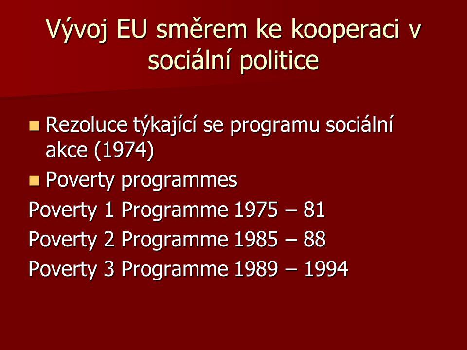 Vývoj EU směrem ke kooperaci v sociální politice