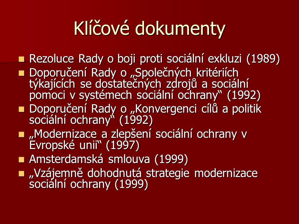 Klíčové dokumenty Rezoluce Rady o boji proti sociální exkluzi (1989)