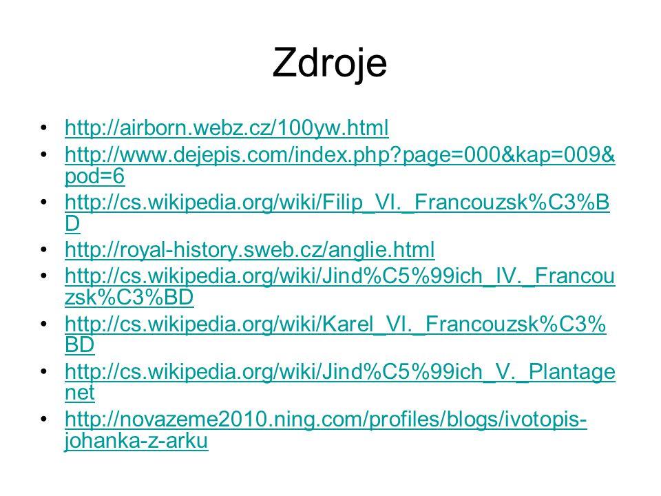 Zdroje http://airborn.webz.cz/100yw.html
