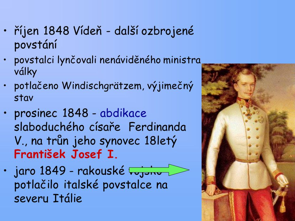 říjen 1848 Vídeň - další ozbrojené povstání