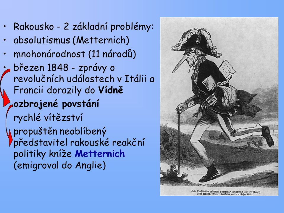 Rakousko - 2 základní problémy: