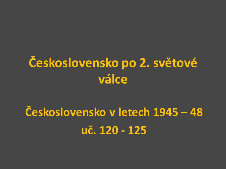 Československo po 2. světové válce