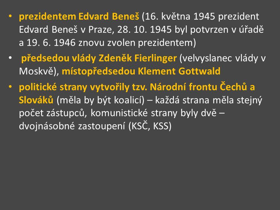 prezidentem Edvard Beneš (16