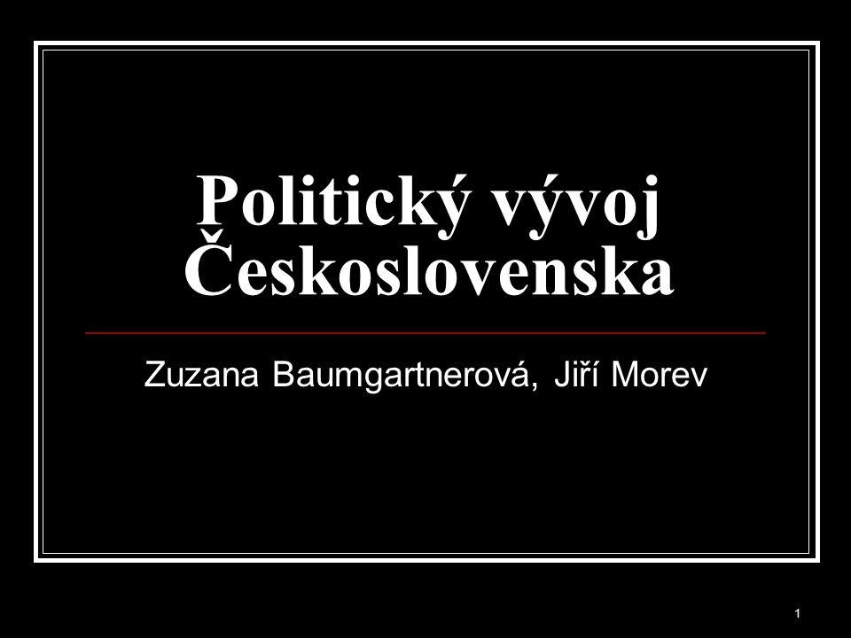 Politický vývoj Československa
