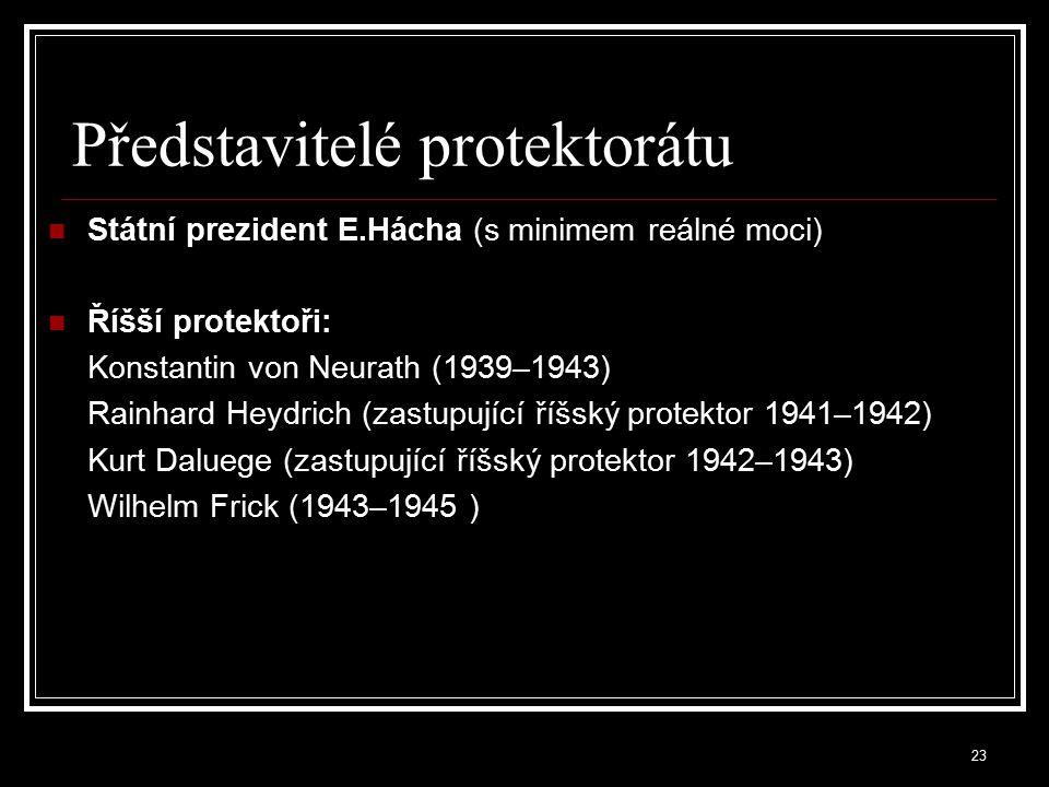 Představitelé protektorátu