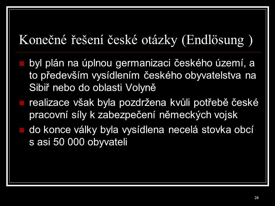 Konečné řešení české otázky (Endlösung )