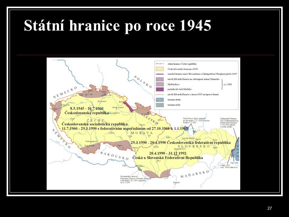 Státní hranice po roce 1945