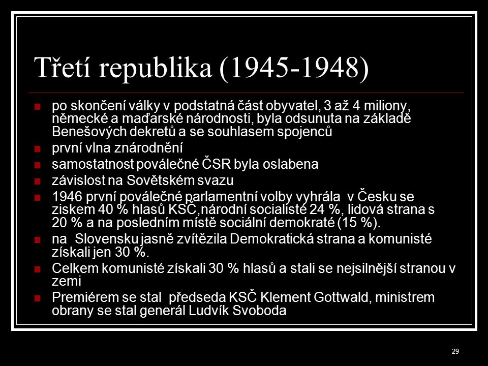 Třetí republika (1945-1948)