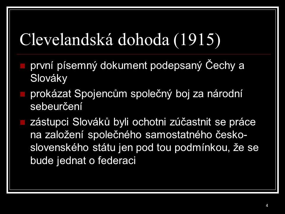 Clevelandská dohoda (1915)