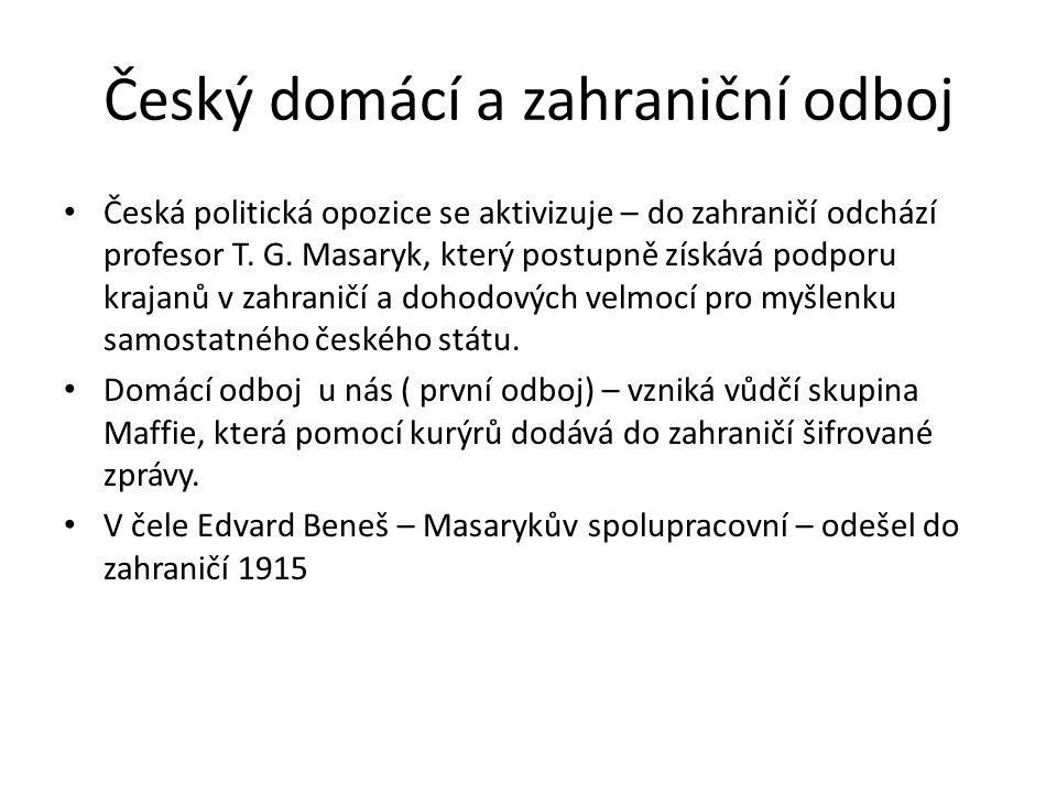 Český domácí a zahraniční odboj