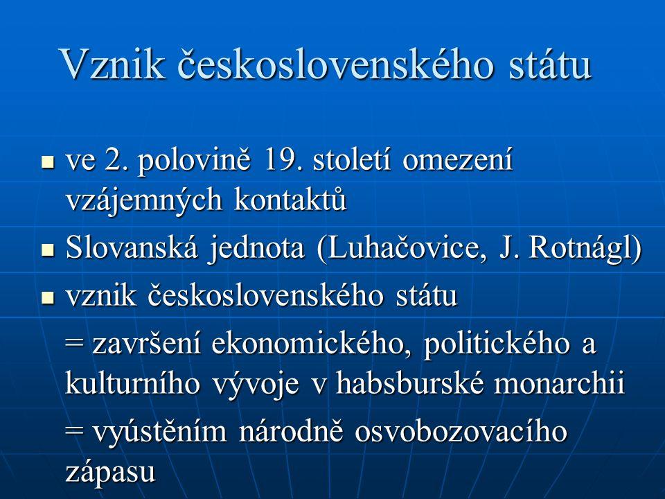Vznik československého státu