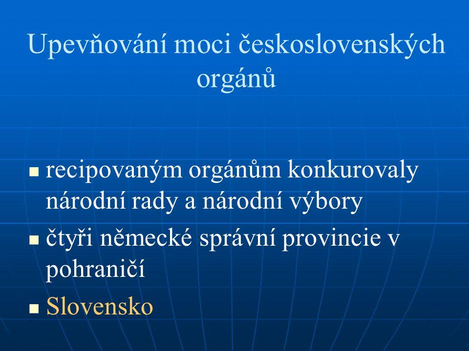 Upevňování moci československých orgánů
