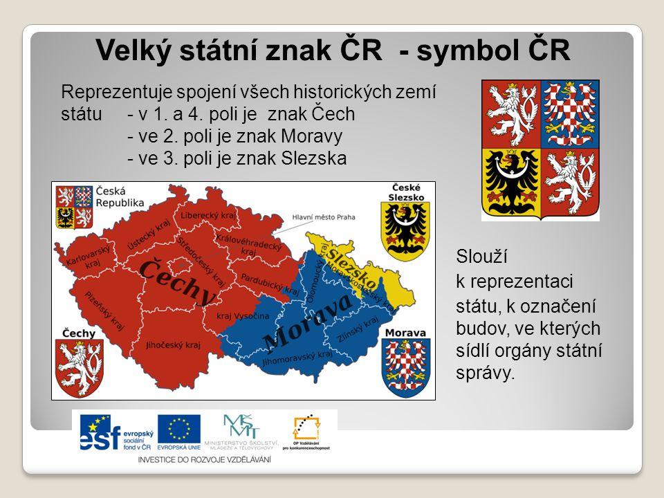 Velký státní znak ČR - symbol ČR