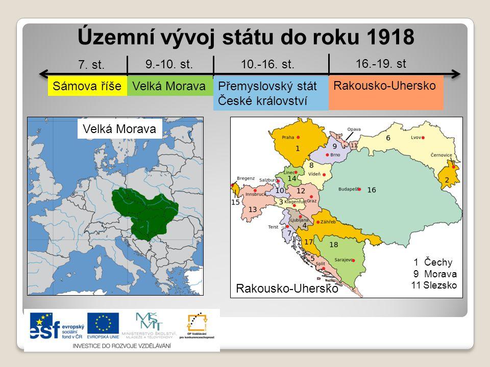 Územní vývoj státu do roku 1918