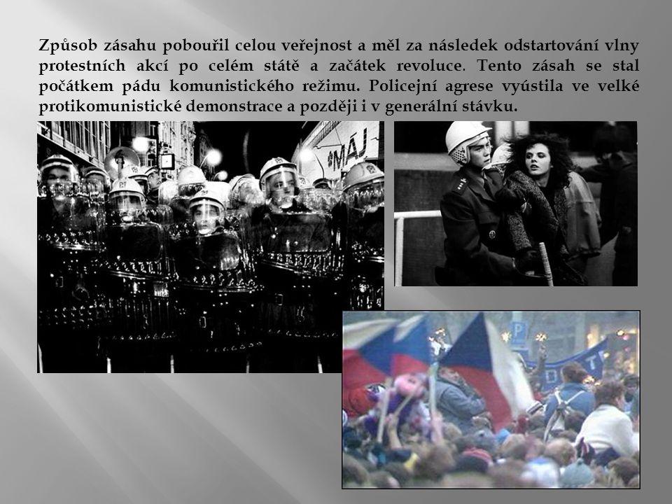 Způsob zásahu pobouřil celou veřejnost a měl za následek odstartování vlny protestních akcí po celém státě a začátek revoluce.