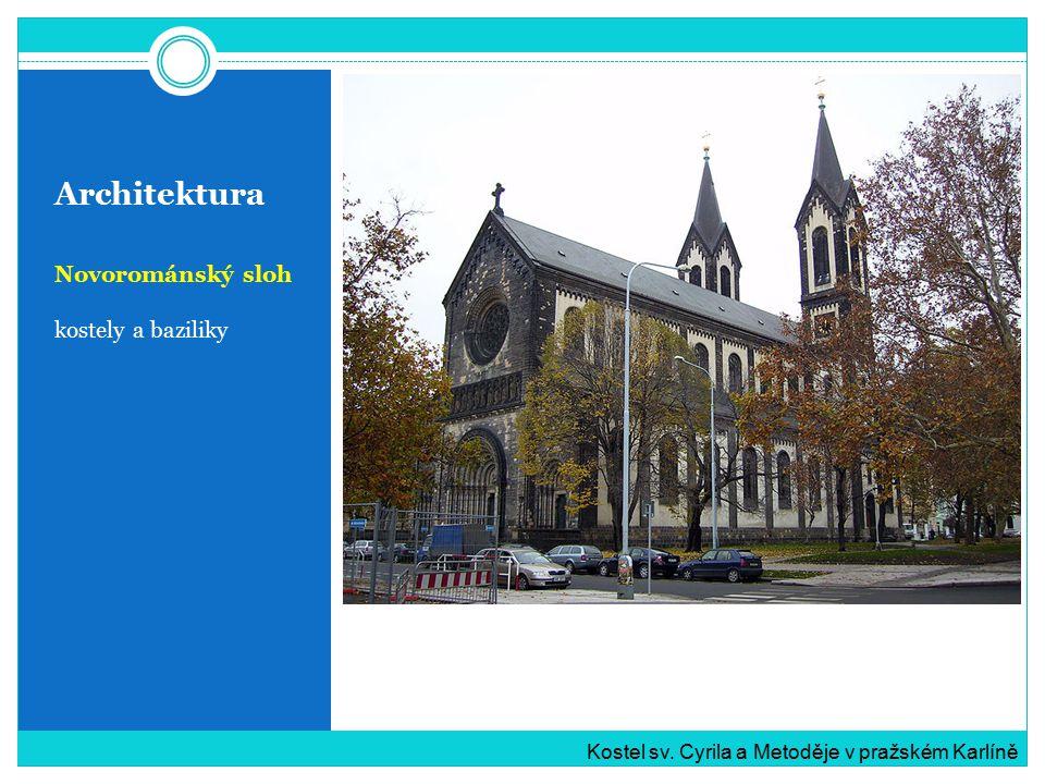 Architektura Novorománský sloh kostely a baziliky