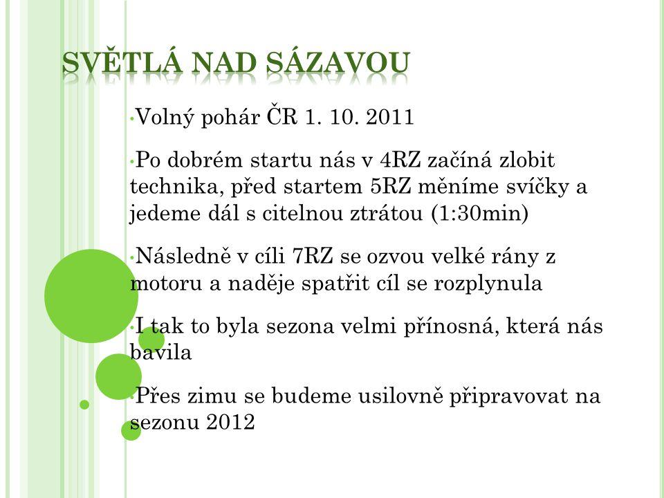 Světlá nad Sázavou Volný pohár ČR 1. 10. 2011