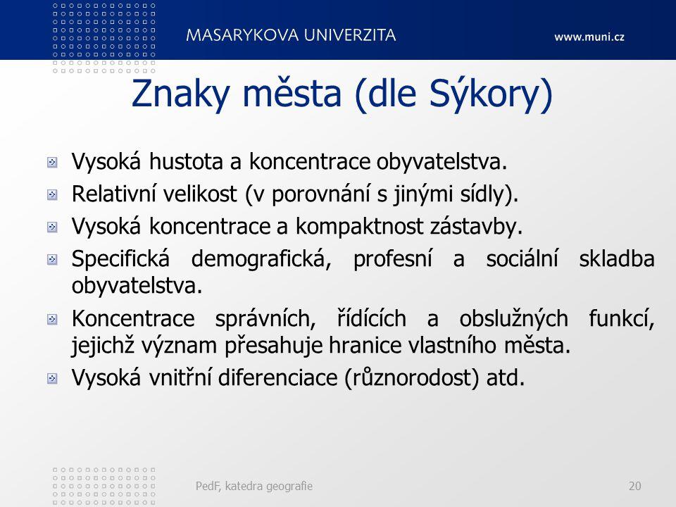 Znaky města (dle Sýkory)