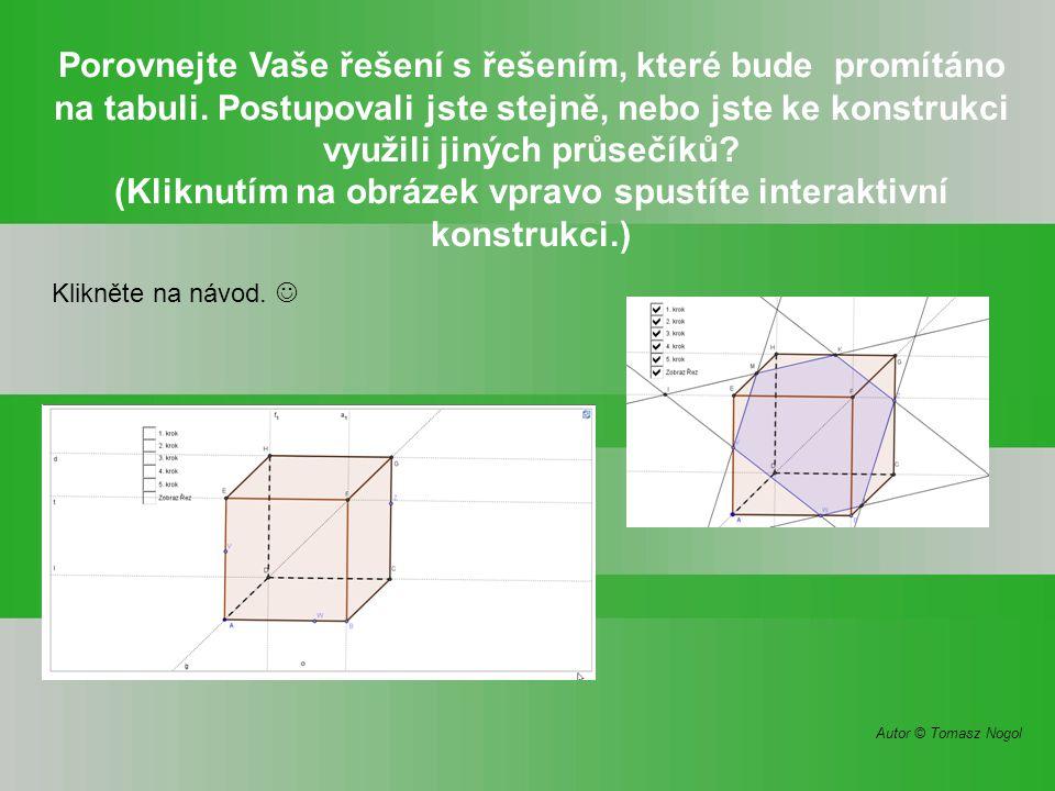 (Kliknutím na obrázek vpravo spustíte interaktivní konstrukci.)