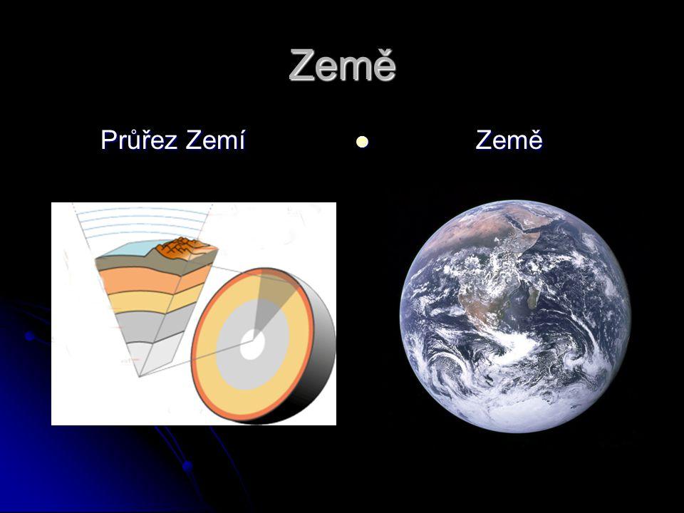 Země Průřez Zemí Země