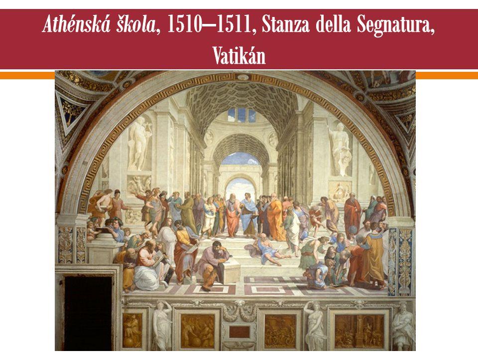 Athénská škola, 1510–1511, Stanza della Segnatura, Vatikán