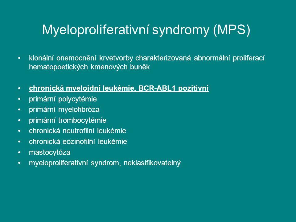 Myeloproliferativní syndromy (MPS)