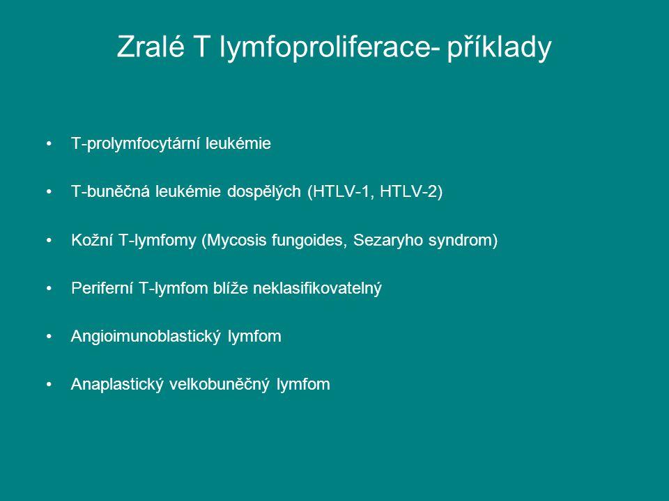 Zralé T lymfoproliferace- příklady