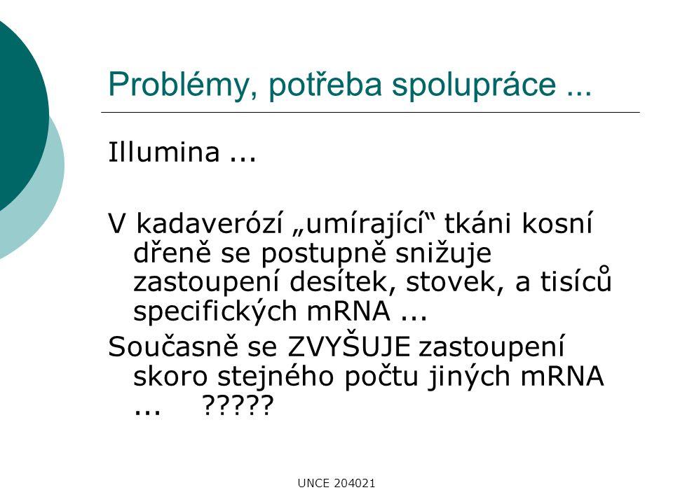 Problémy, potřeba spolupráce ...
