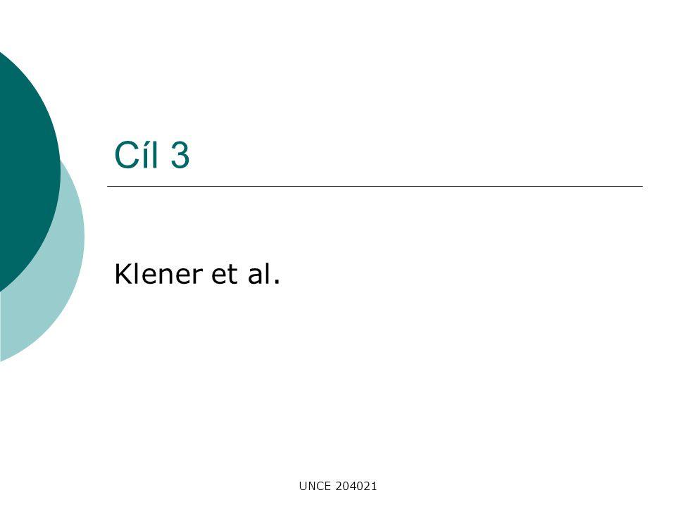 Cíl 3 Klener et al. UNCE 204021