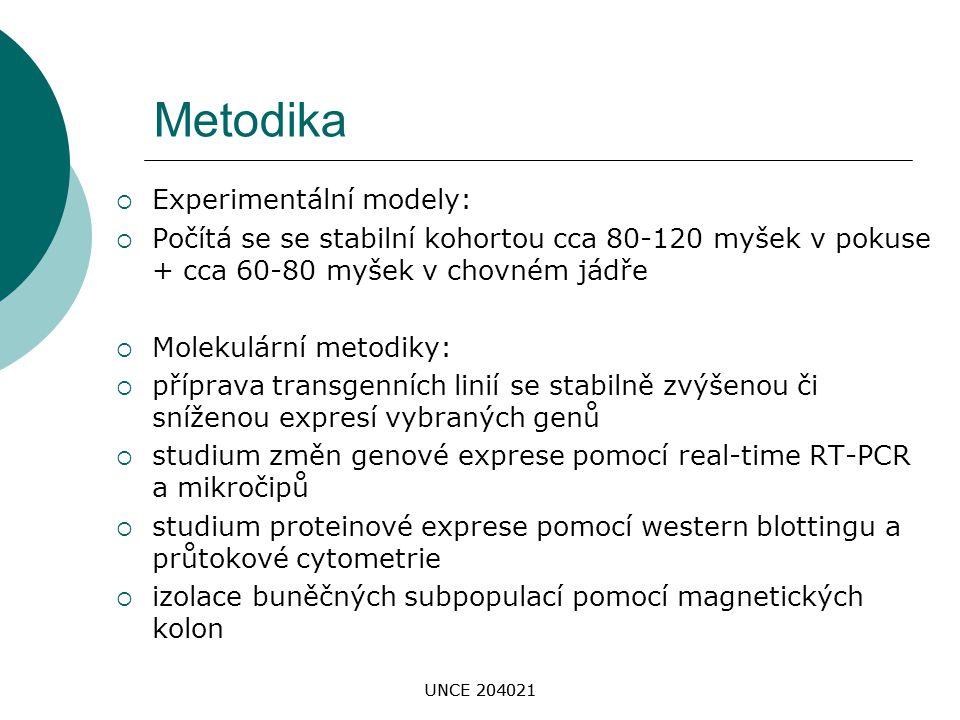 Metodika Experimentální modely: