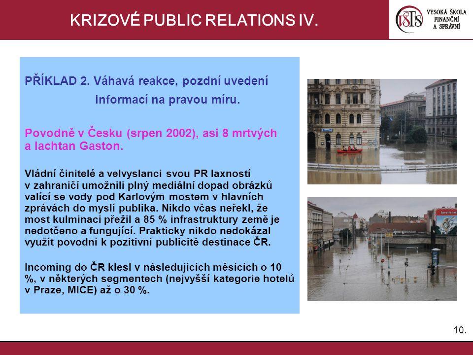 KRIZOVÉ PUBLIC RELATIONS IV.