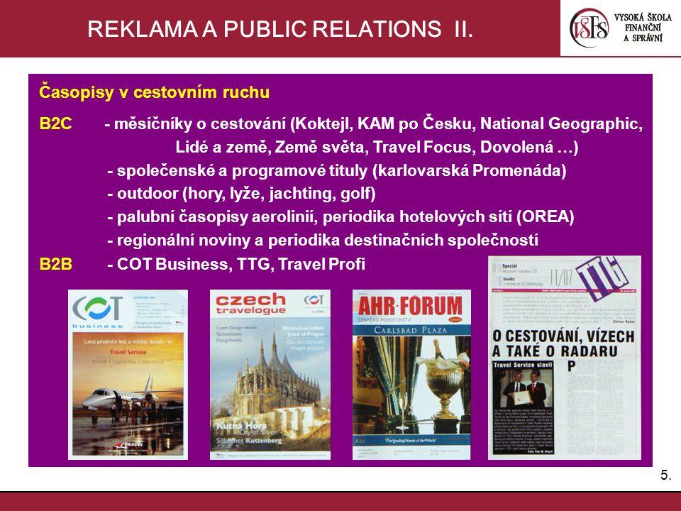 REKLAMA A PUBLIC RELATIONS II.