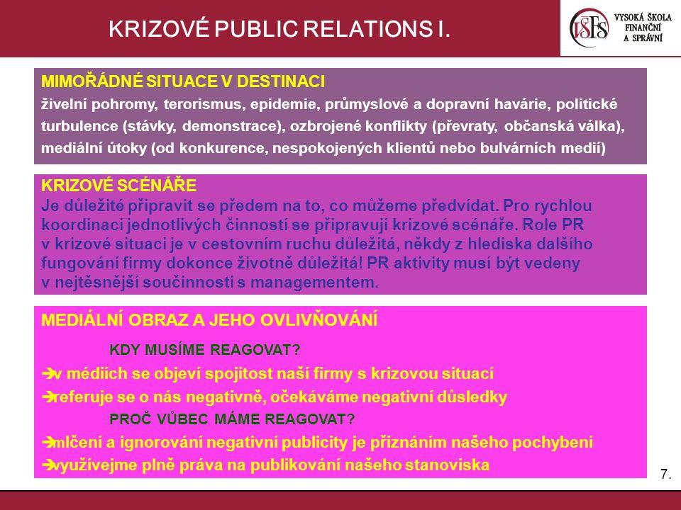 KRIZOVÉ PUBLIC RELATIONS I.