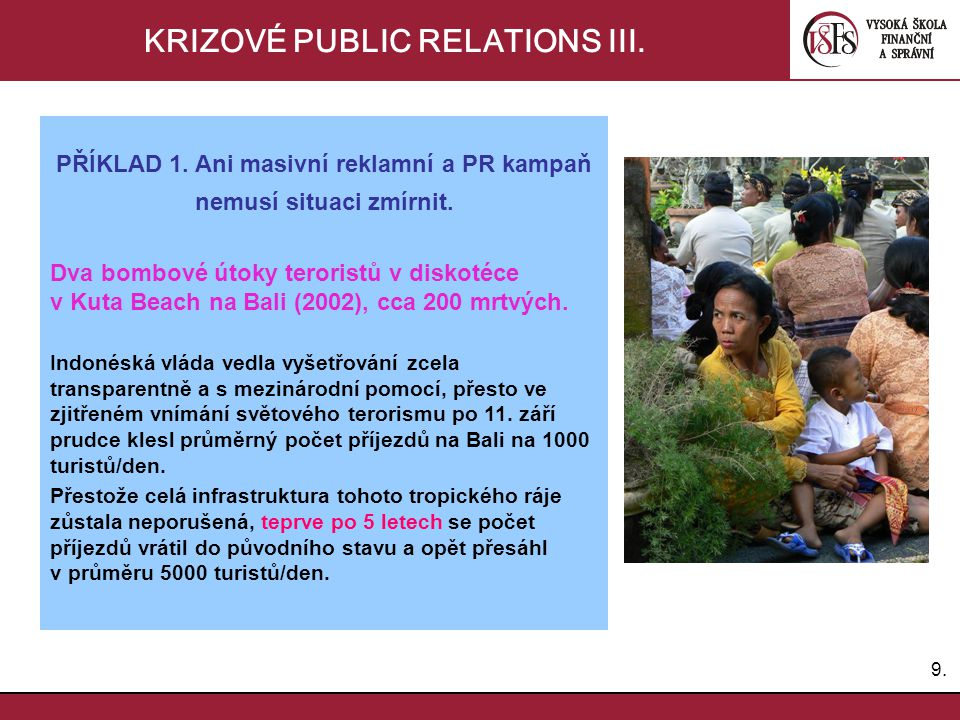 KRIZOVÉ PUBLIC RELATIONS III.