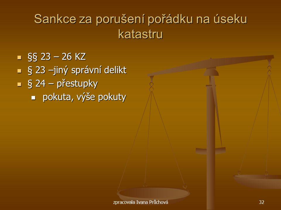 Sankce za porušení pořádku na úseku katastru