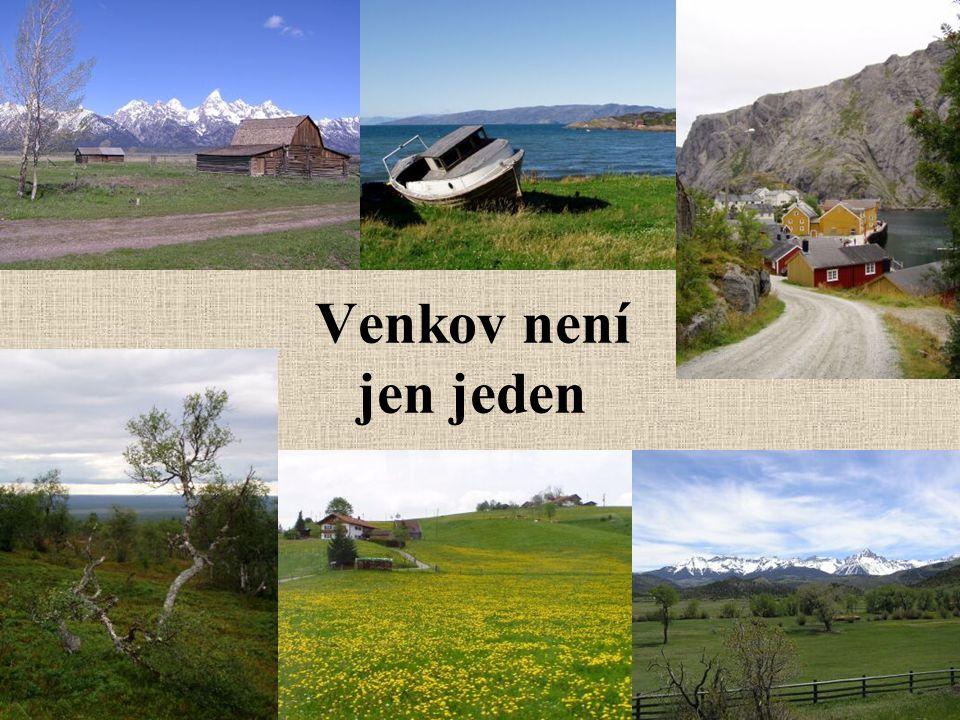 Venkov není jen jeden Norsko, stodola v americe, břízky, poušť,