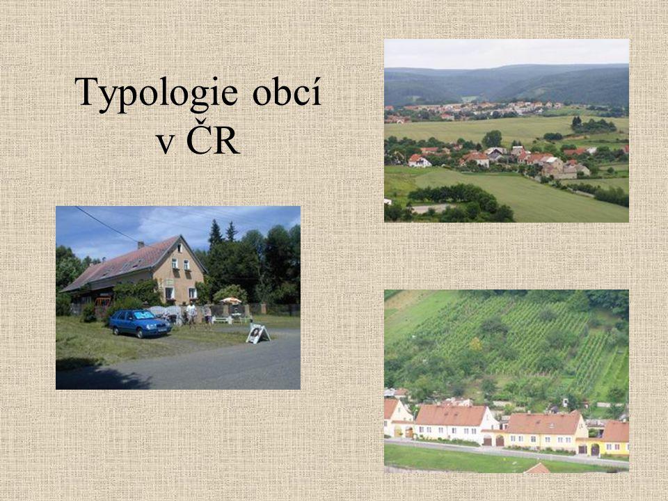 Typologie obcí v ČR Rovina , hory, …