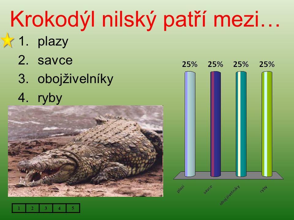 Krokodýl nilský patří mezi…