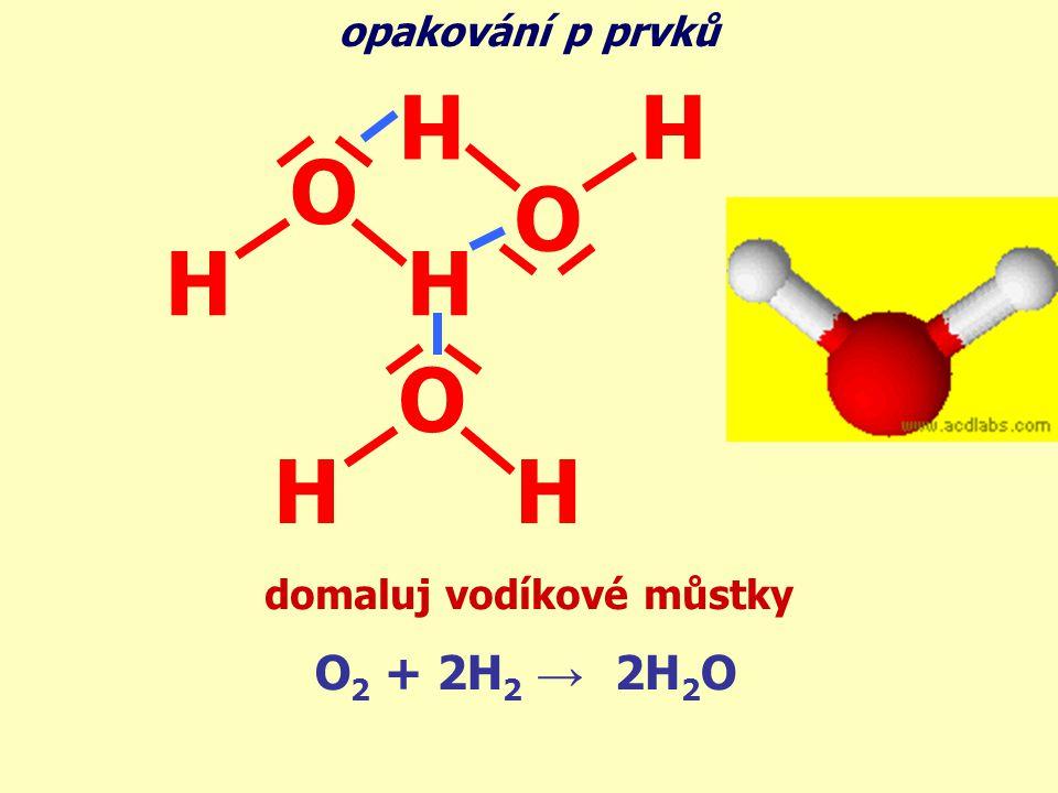 domaluj vodíkové můstky