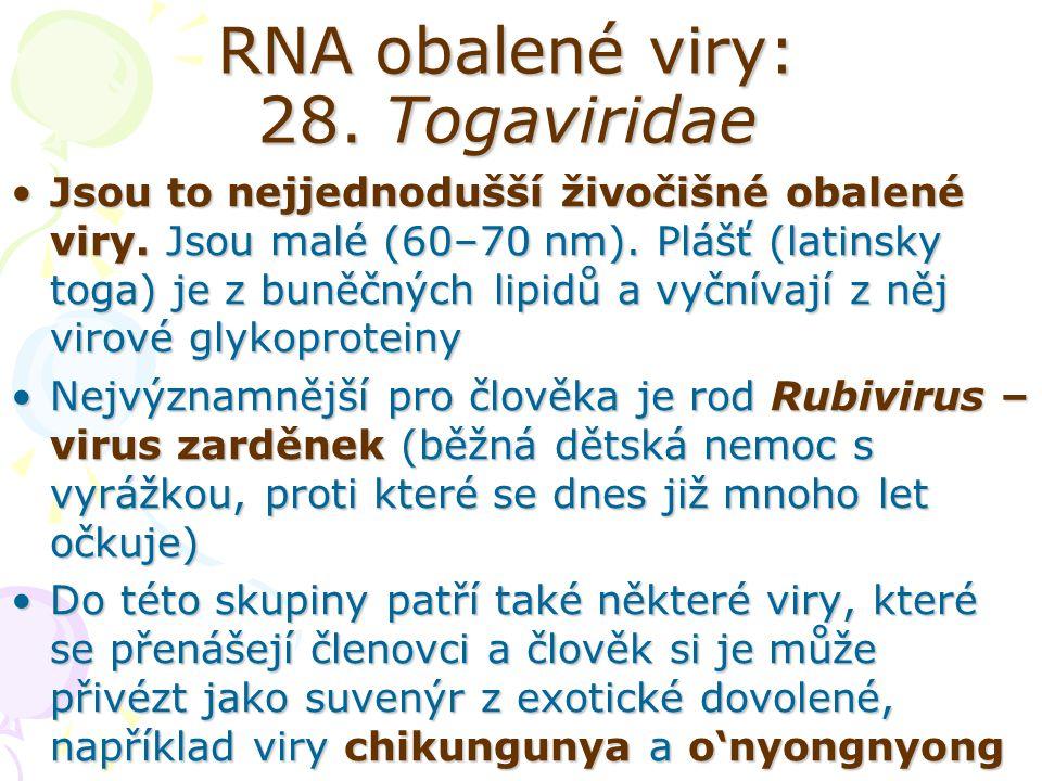 RNA obalené viry: 28. Togaviridae