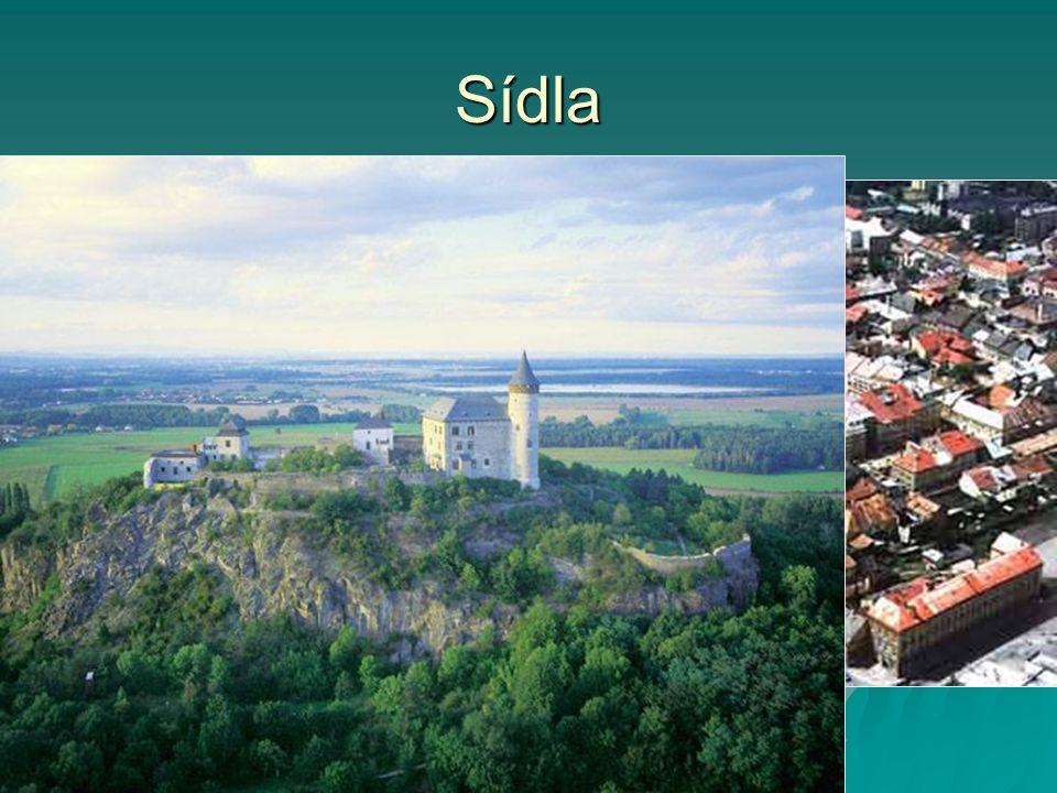 Sídla Pardubice (91 000 obyvatel, univerzita)